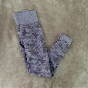 Purple Gymshark Camo Seamless Leggings